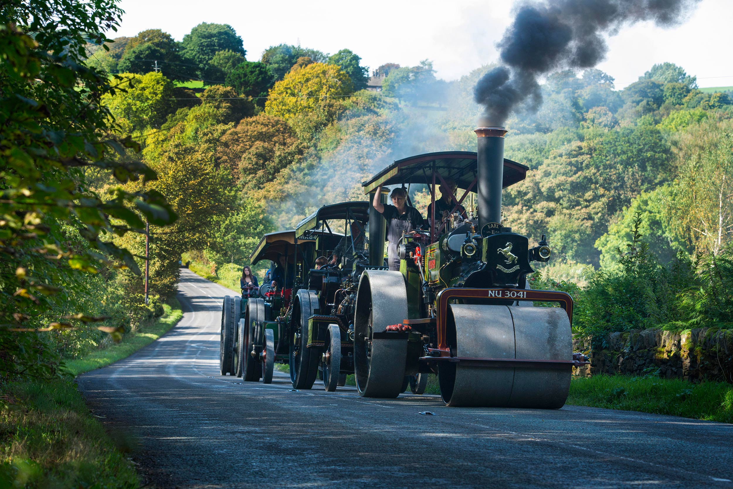 Photograph of steam rally in High Peak Derbyshire photography Jon Parker Lee