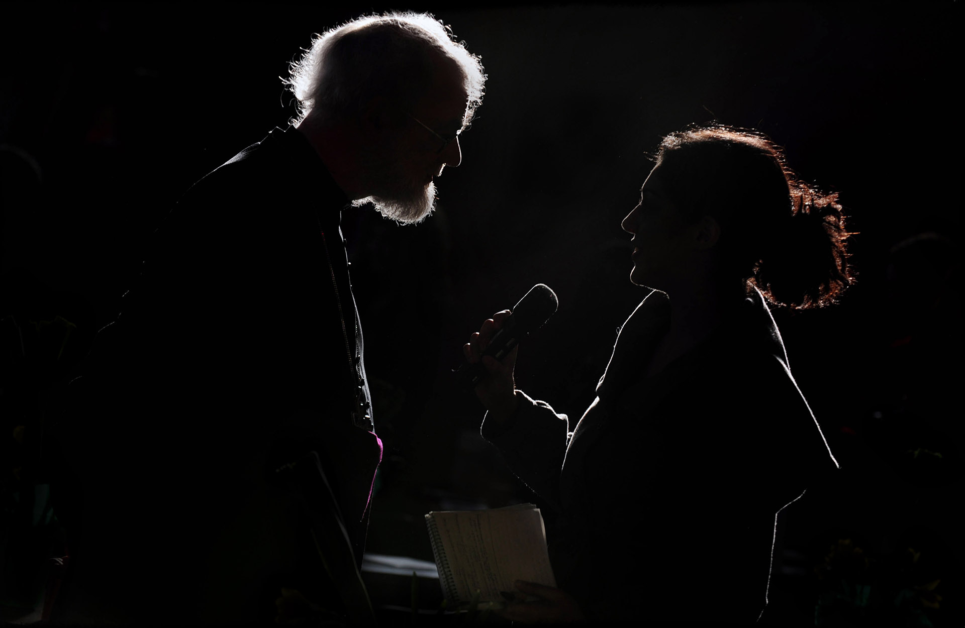 Photograph of The Archbishop of Canterbury, Dr. Rowan Williams visiting Manchester Cathedral, Press PR Photography Jon Parker Lee