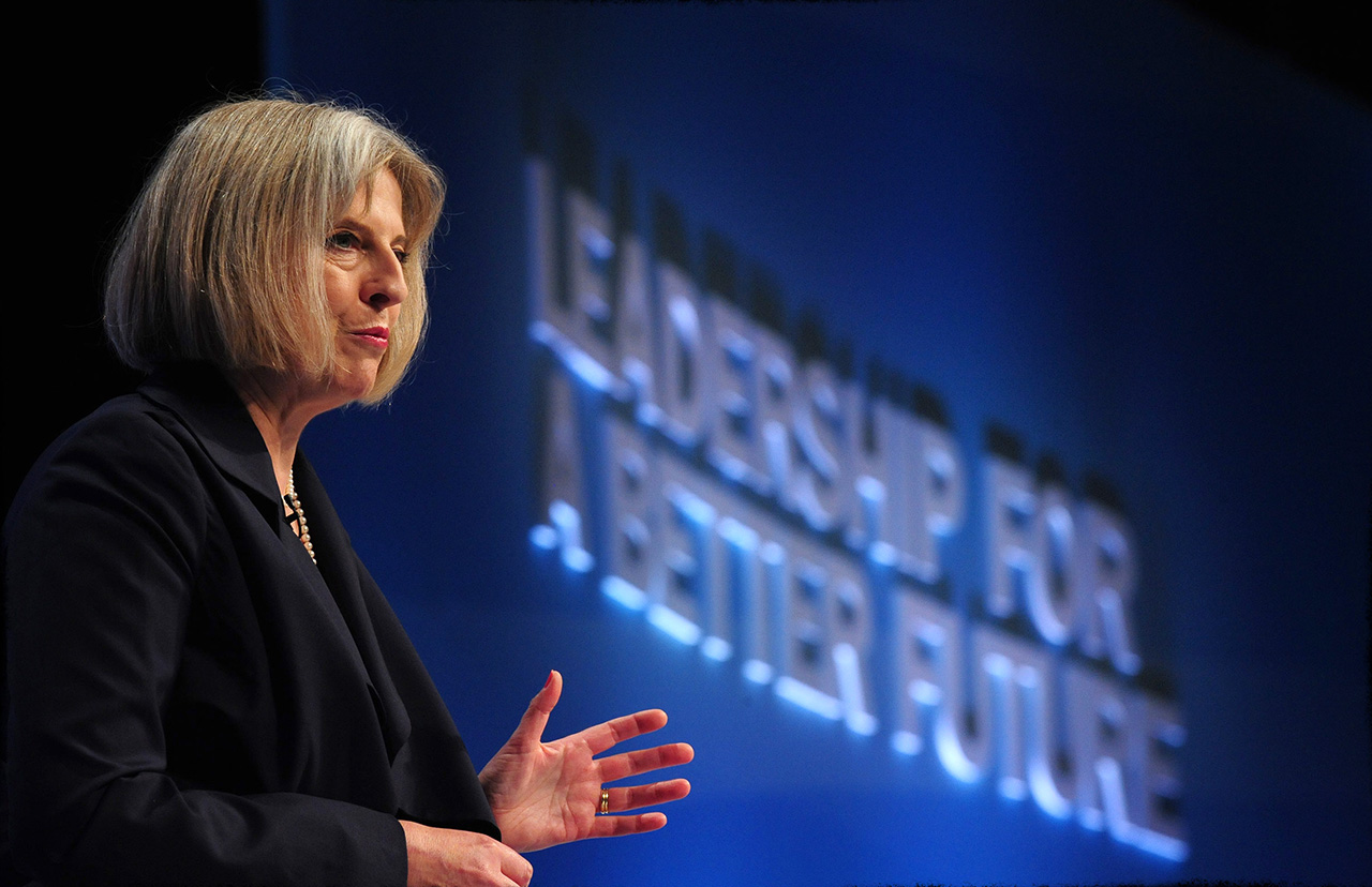 Photograph Teresa May British Prime Minister at Tory Party Conference Newspaper Photography Jon Parker Lee