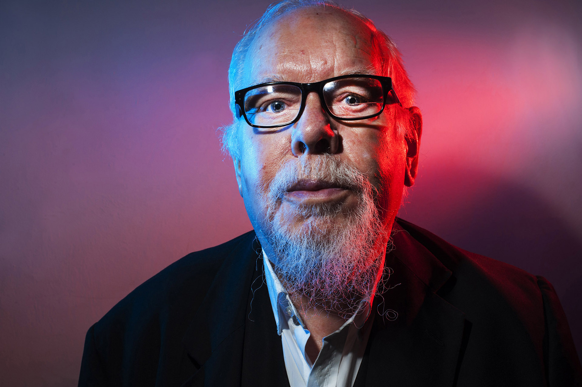 Photograph of Artist Peter Blake at Manchester Literary Festival by professional photographer Jon Parker Lee UK