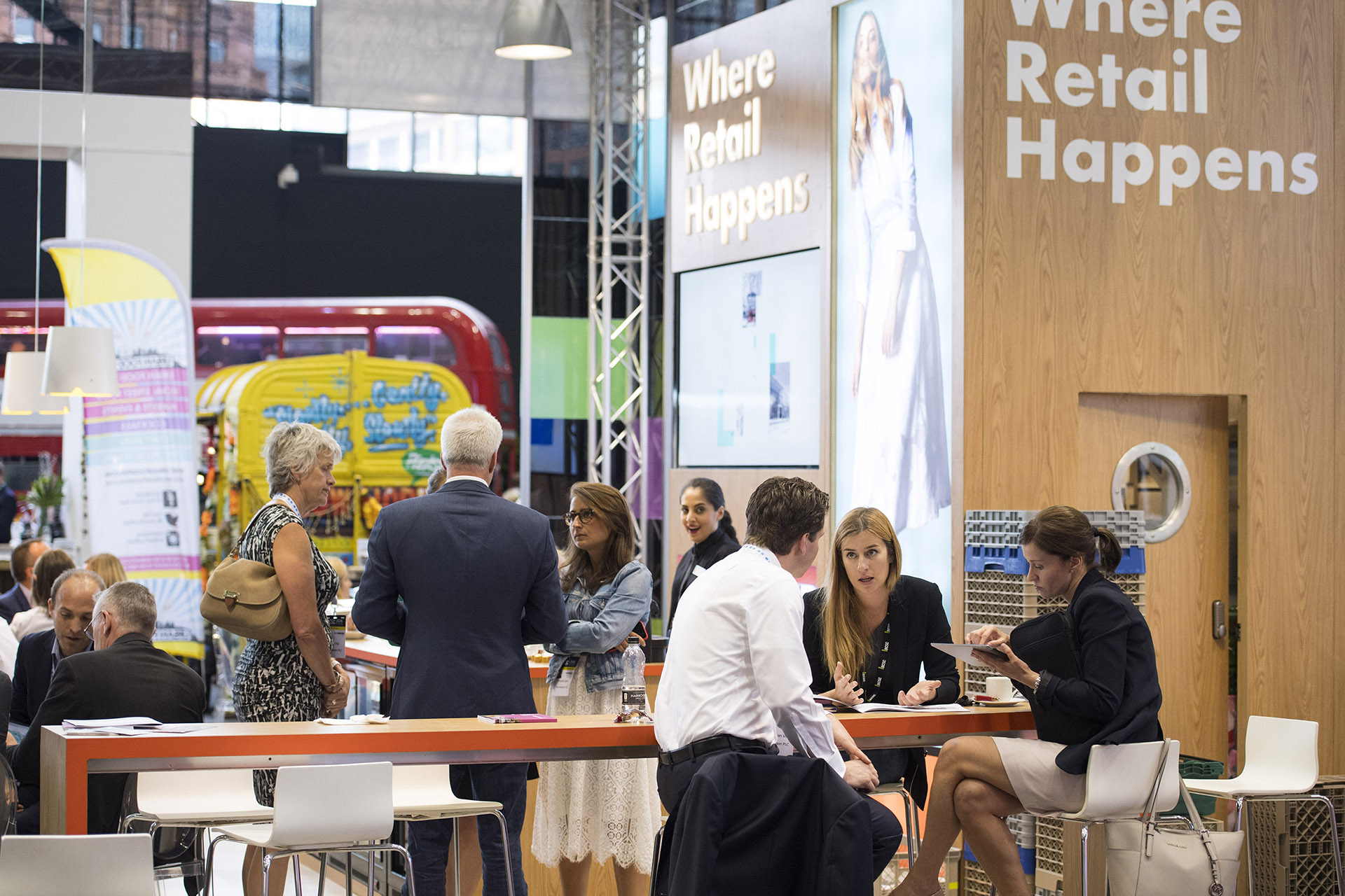 Photograph from British Retail Consortium conference & exhibition at Manchester Central. Conference photography Jon Parker Lee Manchester throughout UK