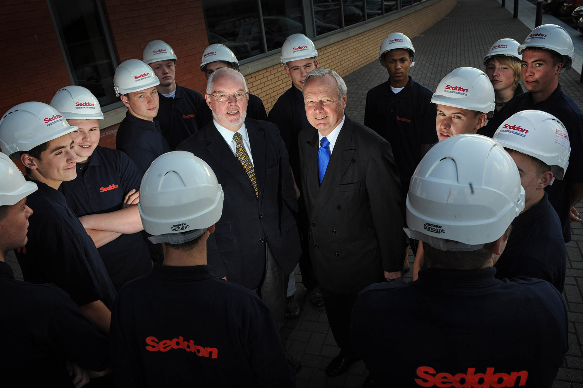 Photograph at Seddon Construction and Maintenance with Chairman and Apprentices, commercial photography by Jon Parker Lee