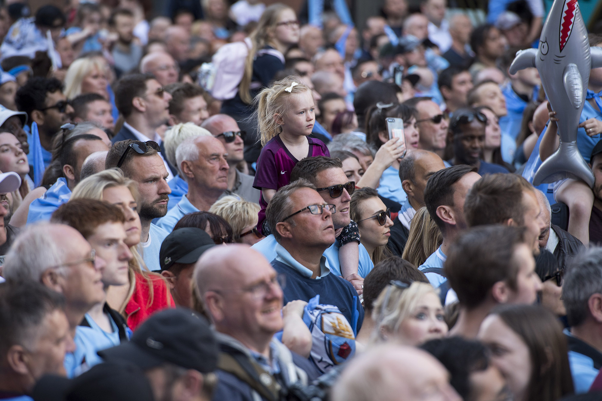 Manchester City Trophy Parade Jon Parker Lee Photographer photography Image ©Licensed to Manchester Evening News / Jon Parker Lee Manchester City celebrate their historic FA Premier League title win with a trophy parade through the streets of Manchester on Monday 14 May 2018. Picture by Jon Parker Lee