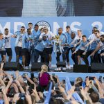 Manchester City Trophy Parade Jon Parker Lee Photographer Image ©Licensed to Manchester Evening News / Jon Parker Lee Manchester City celebrate their historic FA Premier League title win with a trophy parade through the streets of Manchester on Monday 14 May 2018. Picture by Jon Parker Lee