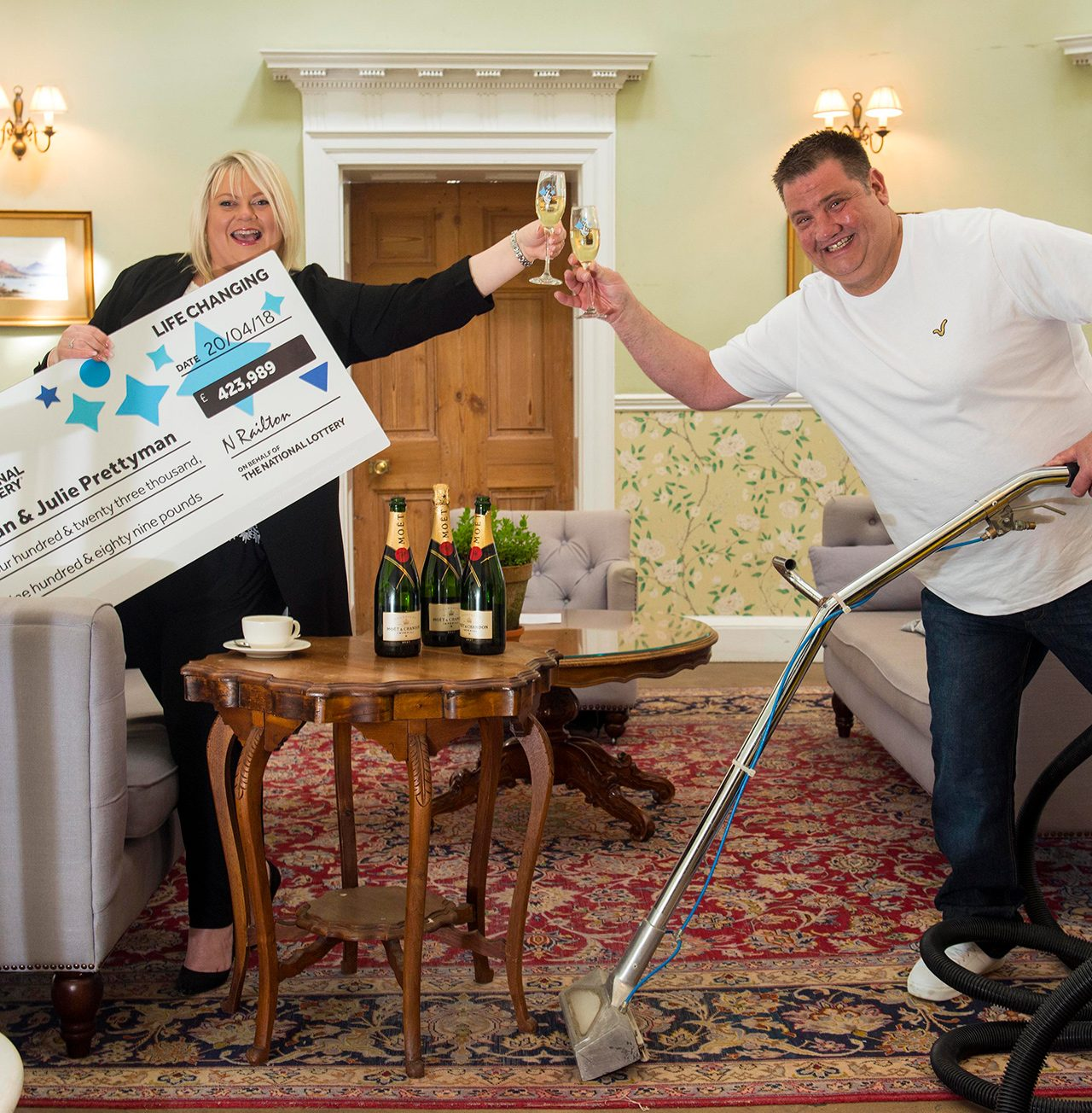 Photograph Lotto winner PR photography by Jon Parker Lee