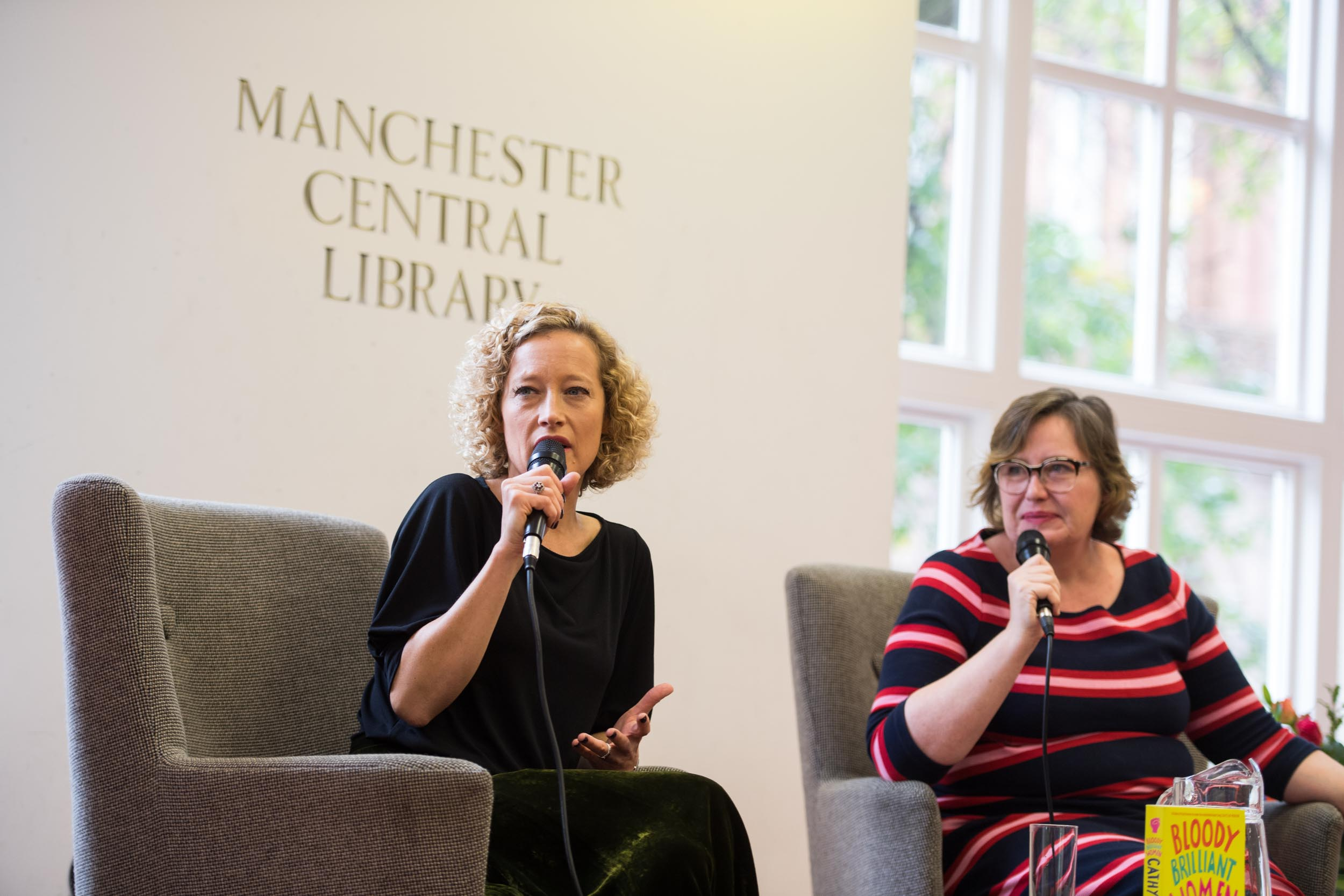 Cathy Newman C4 Alex Clark Manchester Central Library Manchester Literature Festival